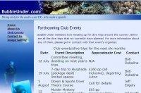 اضافه کردن یک table برای نمایش رویدادها در وبسایت